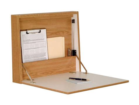 Wall Mounted Folding Desk by Wall Mounted Folding Desk Oak Finish