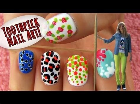 nail art tutorial with toothpick toothpick nail art 5 nail art ideas designs using only