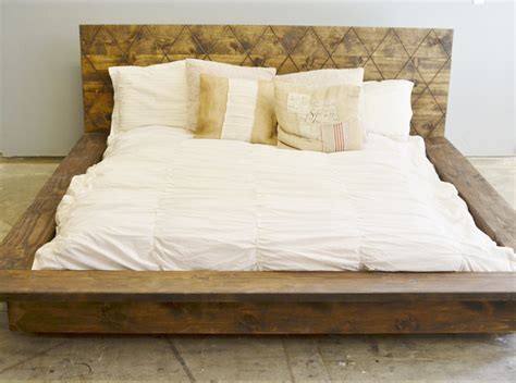 How To Build A Rustic Bed Frame How To Build Wood Platform Bed The Home Redesign