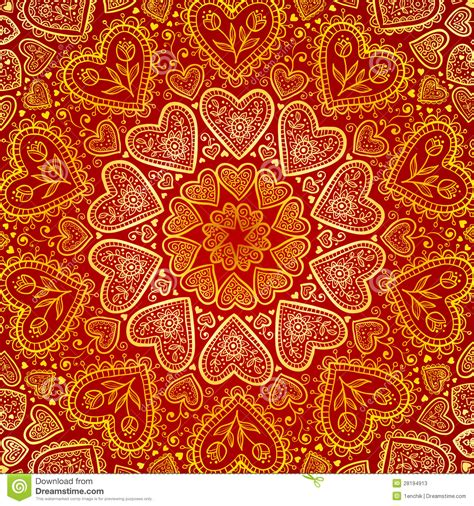 pattern programs in c in hindi ornamental round hearts pattern in indian style stock