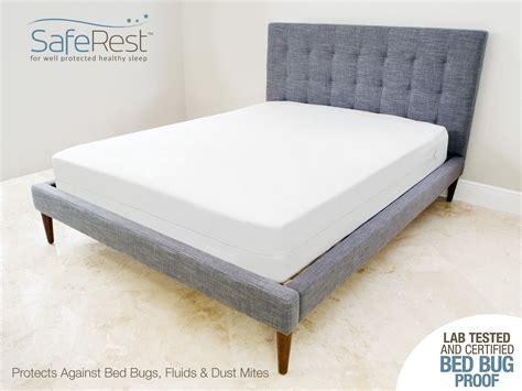 saferest premium zippered mattress encasement lab tested bed bug proof dust mite proof