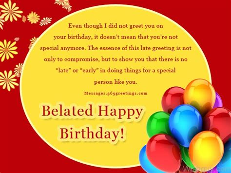 Late Happy Birthday Wishes Comments Belated Birthday Wishes Wishes Greetings Pictures