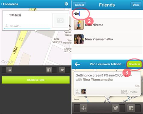 foursquare for android foursquare for android and iphone updated with option to check in your friends vyagers