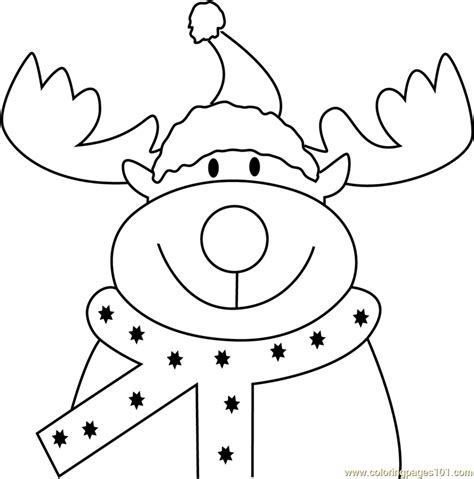 deer face coloring pages reindeer face coloring page free christmas animals