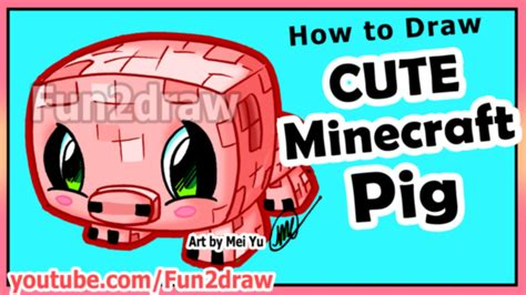 acadamy how to draw micraft things and random thing how to draw minecraft characters pig drawing