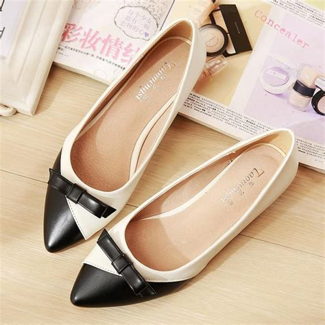Flat Shoes Aex2511 New Arrival aliexpress buy bow womens flat shoes 2017 new
