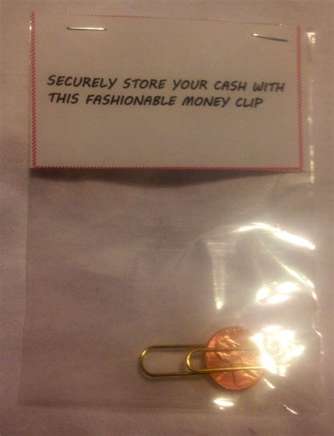 Money clip. Great Christmas gag gift for a gentlemen