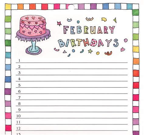 birthday reminder calendar template and stroke lottery 2015 january winners new