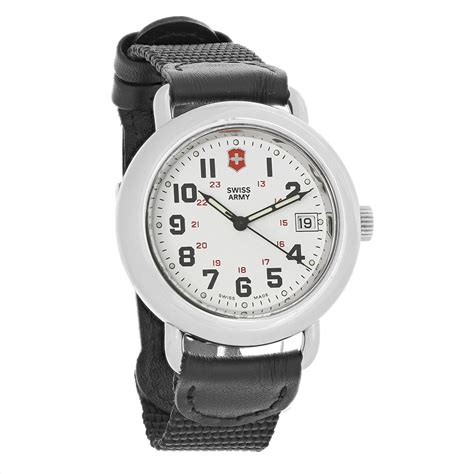 Swiss Army Leather Black List White swiss army cavalry mens white black leather
