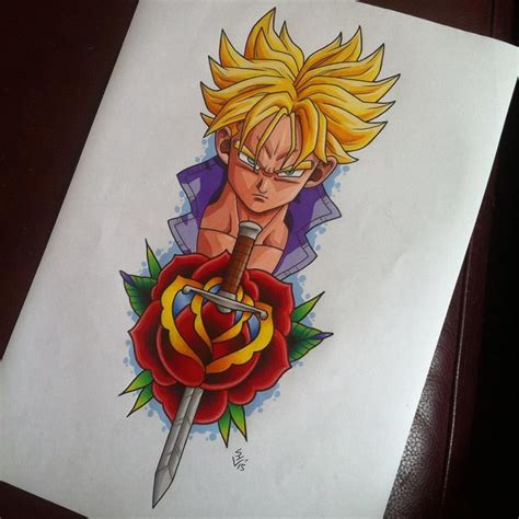 futuristic tattoo designs future trunks design by hamdoggz deviantart on