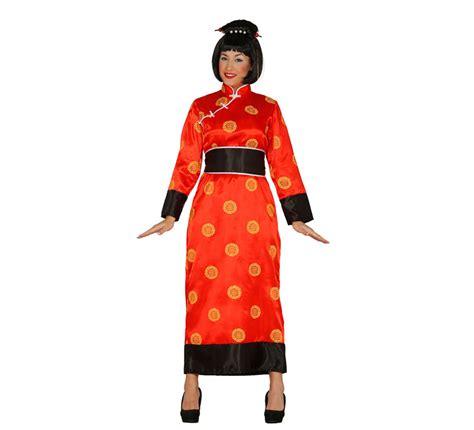 disfraz de la cotorrita disfraz de china rojo para mujer