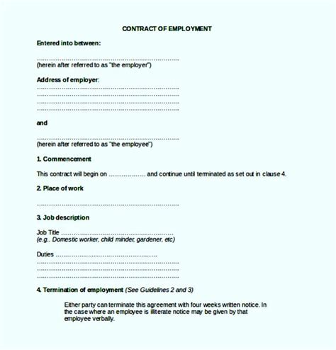 sle employment agreement template employment separation agreement template 28 images sle