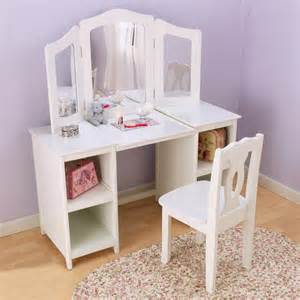 coiffeuse enfant avec sa chaise en bois deluxe
