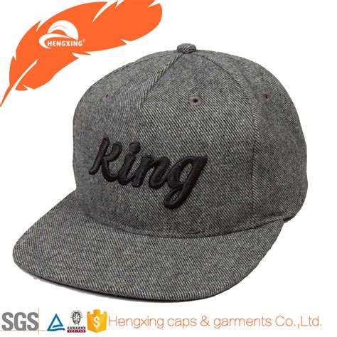 custom embroidered snapback hats wholesale wool felt 3d