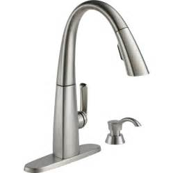 Kitchens Faucets by Shop Delta Arc Spotshield Stainless 1 Handle Pull Down
