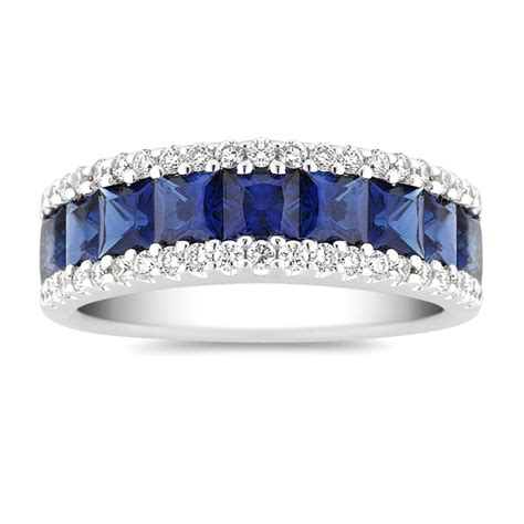 halo ring princess cut blue sapphire halo ring
