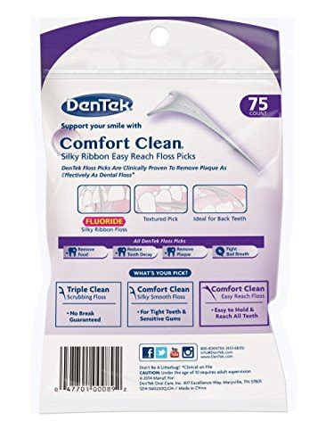 dentek comfort clean back teeth dentek comfort clean back teeth floss picks 75 count