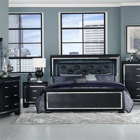 allura black  pc queen bedroom badcock
