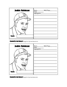 baseball trading card template free casey at the bat jackie robinson baseball card template by tech savvy tpt