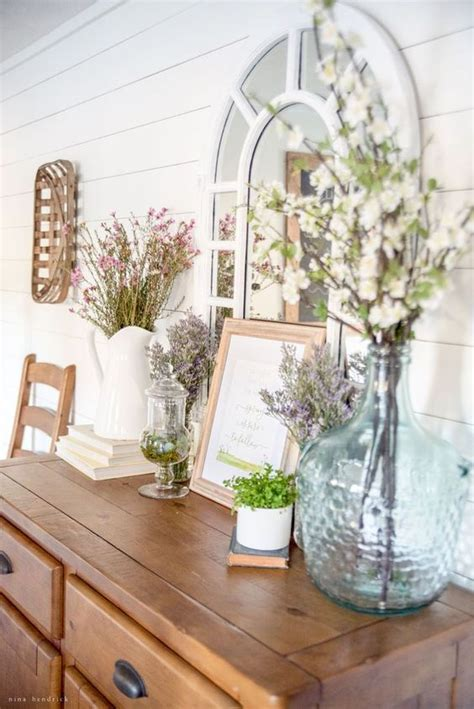 2017 open house blooming with spring decorations 25 fresh spring console table decor ideas digsdigs