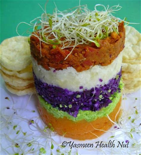 m s layered vegetables peruvian causa a layered potato and vegetable salad