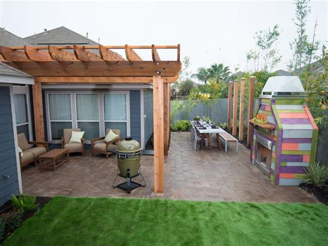 backyard terrace yard crashers diy