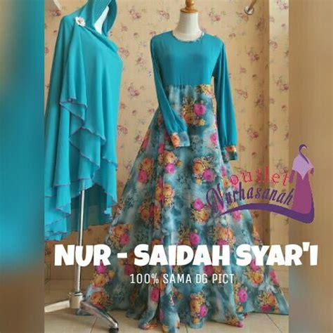 Gamis Abaya Sintia Syar I Flower Pesta Bergo produsen busana muslimah tanah abang outlet nurhasanah outlet baju pesta keluarga muslim