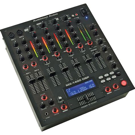 Audio Mixer American Standard american audio mx 1400 dsp pro 4 channel dj mixer mx 1400 dsp