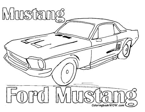 coloring sheets mustang cars preschoolers cars car coloring ford cars free