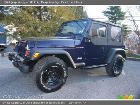 1999 Jeep Wrangler Se Amethyst Pearlcoat 1999 Jeep Wrangler Se 4x4