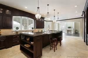 Dark Wood Kitchen Cabinets by Pictures Of Kitchens Traditional Dark Wood Nearly