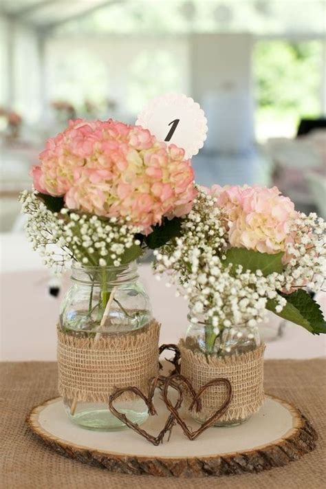 quinceanera ideas with hydrangeas centerpieces