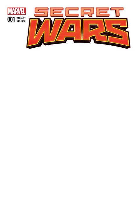 comic book cover template secret wars 1 blank variant fresh comics