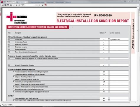 electrical condition report template electrical installation condition report lights