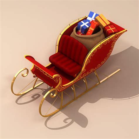 santa claus sleigh 3d model max obj 3ds fbx c4d ma
