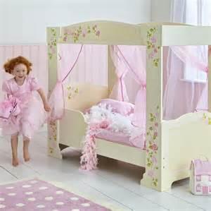 girls kids bed girls rose 4 poster junior toddler bed new mdf four