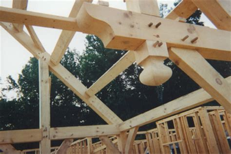 Gambrel Roof House tfdesign fasteners in timber frame joinery dowels pegs