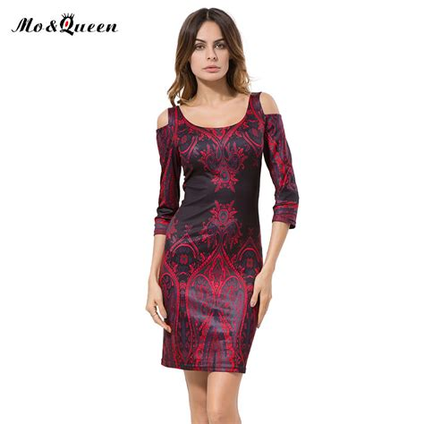 Dress Tribal Casual tribal print casual dresses bodycon cut out shoulder