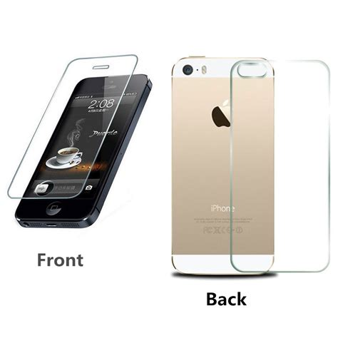 Tempered Glass Iphone 5 G S Back T1910 2 aliexpress buy 2pcs lot front back for iphone 5