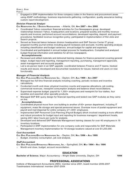 aswespeak biz erp implementation resume sle