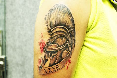 spartan helmet tattoo best tattoo studio in india black