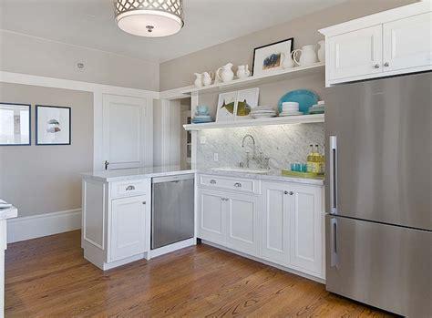 Peninsula Kitchen Ideas White Beachy Kitchens Cottage Kitchen Tamara Mack Design