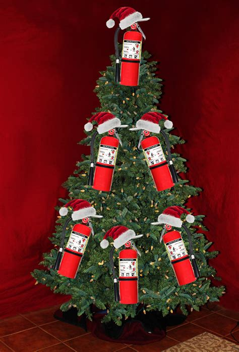 christmas tree fire extinguisher essential list of quot practical quot tree decorations ie