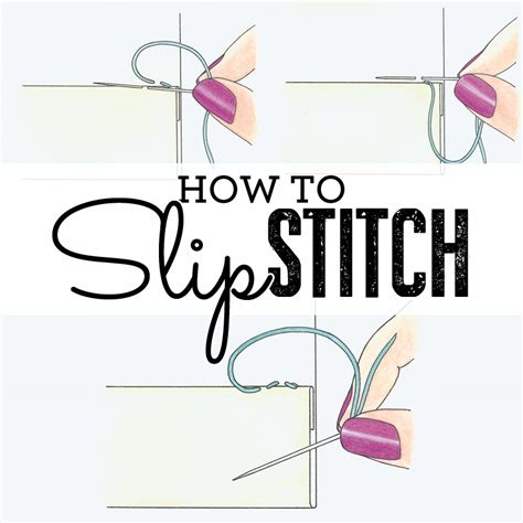 how do you do a slip stitch in knitting how to sew slip stitch how to sew sew magazine