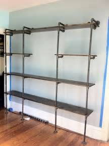 galvanized pipe shelves diy pipe shelves use galvanized steel pipe prime and