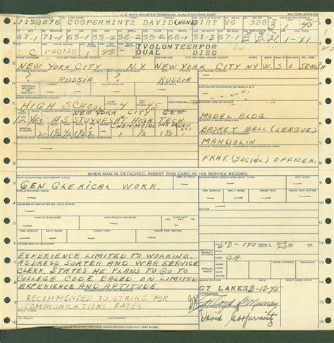 Service Records Wwii Era Navy Service Records An Overview My Service Records