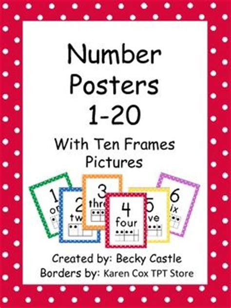printable number posters 1 20 72 best pre k number posters images on pinterest