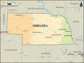us map nebraska geographical map of nebraska and nebraska geographical maps