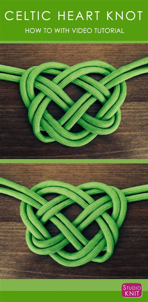 Tying Celtic Knots - how to make a celtic knot studio knit
