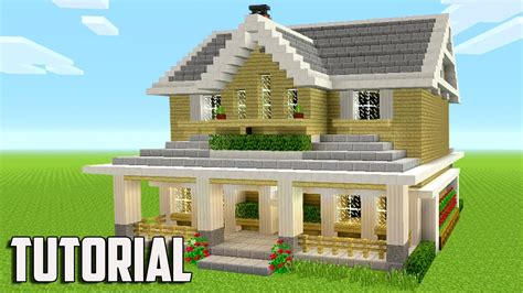 minecraft suburban house tutorial minecraft how to build a suburban house minecraft tutorial 2017 youtube